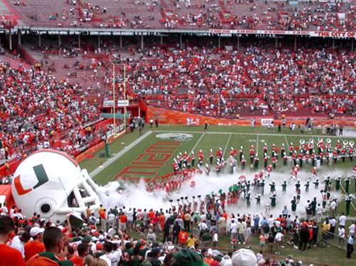 Miami Hurricanes Stadium The Miami Hurricanes Take The